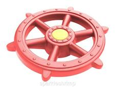 PIRATE STEERING WHEEL Play Equipment Outdoor Toys - red