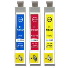 3 C/M/Y Ink Cartridges for Epson Stylus D78 DX5050 DX9400 SX105 SX218 SX415