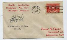 BRIS - ADEL AIR RACE 16-18 Dec.1936 (AAMC.680) Carried & signed J.C.K. MacKenzie