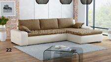 Corner Sofa Bed COLIN  - NEW - fabric with faux leather  ( BARGAIN ) !!!