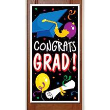 Graduation Party Decorative Congrats Grad Door Cover indoor & outdoor 30 x 60