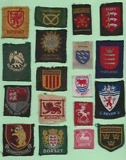 Old British Boy Scout - County Badge Collection - X 18