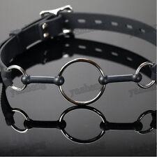 Quality medical silicone Steel O-Ring Mouth Gag bondage Restraints Soft silica B