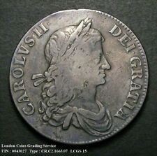More details for 1663 charles ii silver crown bull 359 esc 27a cgs 15   ☆☆☆  r3 very rare  ☆☆☆