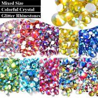 des mixtes la beauté manucure de décoration dos plat strass 3d nail art crystal