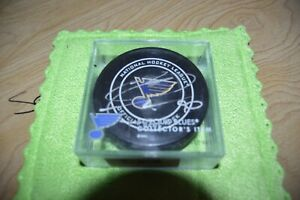 RYAN O'REILLY AUTOGRAPH BLUES PUCK OFFICIAL GAME PUCK