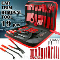 19x Car SUV Trim Removal Tool Set Hand Tool Pry Bar Panel Door Interior Clip Kit