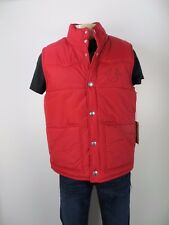 NWT True Religion Puffer Vest Poly,Red