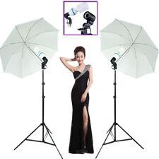 1350W Photo Studio Umbrella Light Stand Bulb Continuous Lighting Lamp Kit Set UK