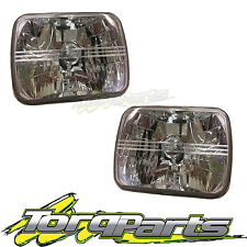"""CRYSTAL SEMI SEALED BEAM HEADLIGHTS LAMPS 7"""" x 5"""" SUIT HOLDEN RODEO TF UTE 88-03"""