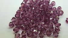 25g of 6mm Amethyst Acrylic Plastic Faceted Bicone Beads - A5317