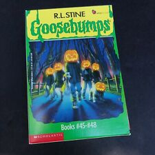R L Stine Goosebumps Box Set Books 45-48 Original Covers Series Rare Vintage EUC