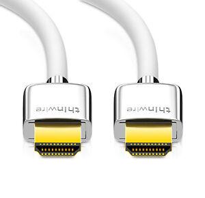 mumbi UltraThin HDMI Kabel 2.0 Ultra HD 4K 3D HDR UHD High Speed mit Ethernet 2m
