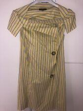 VIVIENNE WESTWOOD ANGLOMANIA STRIPED DRESS YELLOW STRIPES SIZE 38