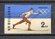 33441) BULGARIA 1960 MNH** Olympics, Squaw Valley 1v IMPERF