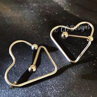 14g Pair Of Skull Captive Bead Multi Purpose Unisex Nipple Rings #434