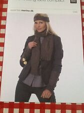 RICO Kniting Pattern ~ Women's Cuffs Headband and Scarf ~ DK Merino
