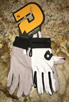 DeMARINI Stadium White Black Grey Baseball Batting Gloves NEW Mens Adult Sz M L