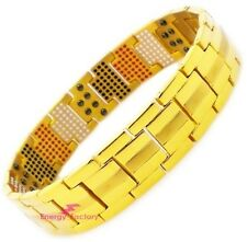 100% GOLD TITANIUM Magnetic Energy Germanium Power Bracelet 4in1 Bio Armband