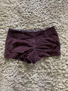 River Island Cute Purple Cord Shorts Size 12