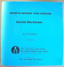 """Sports Heroes and Legends """"David Beckham"""" - Braille for the blind"""