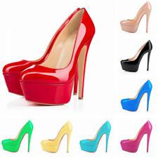 Women's Sexy 14CM Platform Stiletto High Heels Shoes Party Court Pumps Plus Size