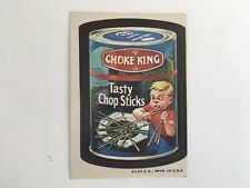 1973 Wacky Packages 3rd Series CHOKE KING Sticker