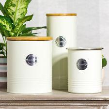 Typhoon Retro Cream Kitchen Canister Set Biscuit Pasta Tin Utensil Pot Container