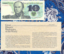 Great Historic Banknotes Poland 1982 10 Zlotych P 148a UNC Prefix M