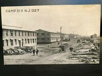 Vintage Postcard>1917>Camp Dix>Construction>N.J.D27>Trenton>New Jersey