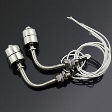 2pcs Stainless Steel Float Switch Liquid Switch Water Level Silver Sensor