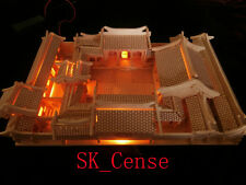 3D Woodcraft Puzzle Chinese Architecture House Beijing Courtyrard Model 6lights