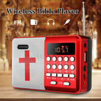 Rechargeable Portable Bible Player Audio Speaker Talking FM Radio TF USB