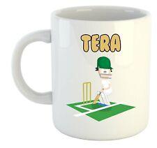 Tera - Cricket Personalised Mug - Gift For - Ashes, World Cup, Hobby