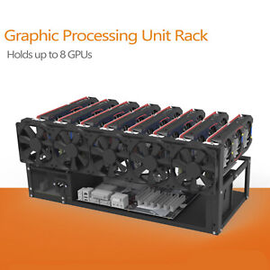 8 GPU Mining Rig Rack Frame Open Air Computer Case Miner BTC Rig Ethereum