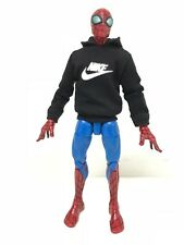 "OZ-SS-NK: FIGLot 1/12 fabric logo hoodie for 6"" ML Spiderman, SHF, Figma Figure"