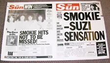 "SUZI QUATRO SMOKIE PROMO POSTER ""IF YOU KNEW SUZI"" & ""THE MONTREUX"" ALBUMS 1978"
