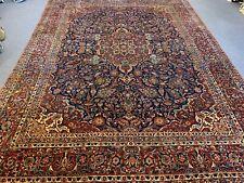 kashann genuine antique handmade wool oriental area rug 9x12