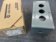 Allen Bradley 800t 3tz Three Hole Push Button Enclosure Nema 4 13 Usa
