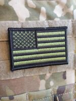"""Forest Green American Flag 2x3""""  VELCRO® BRAND FASTENER PATCH"""
