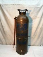 Vintage American La France  Brass Soda Acid  Fire Extinguisher 2-1/2 Gallon