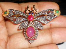 92.5 Emerald Ruby Butterfly D