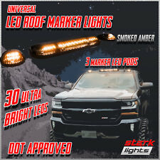 3PC 30 AMBER LED Smoked Lens Roof Top Full Cab Lights For 02-07 Silverado Sierra