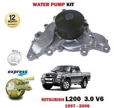 para Mitsubishi L200 3.0 V6 Coche 6g72 Triton 1997-2006 NUEVO Kit de Bomba agua