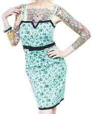 77861 Blue Happy Kamper Jet Girl Dress Sourpuss Retro Pinup Punk Rock Small S