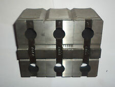 Set of tongue & groove Hard Top Jaws for 3 jaw Chucks NEW