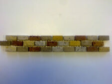 BORDER TILES PACK OF 28 MARBLE MOSAICS MULTI-COLOURED