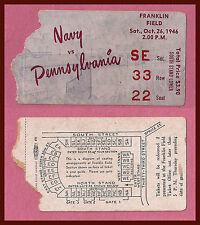 1946 Pennsylvania vs Navy Football Ticket Stub!