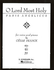 Cesar Franck Panis Angelicus Low Voice Learn Sing Piano Music Book