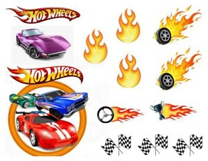 A4 MAKE YOUR OWN HOT WHEELS THEME CAKE CUT OUT EDIBLE FONDANT /WAFER CAKE TOPPER